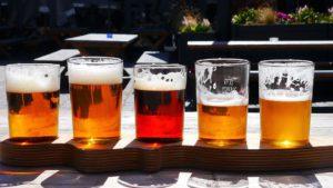 5 Beer Tasting Glasses With Multiple Beer Varieties