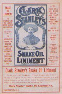 Clark Stanley's Snake Oil