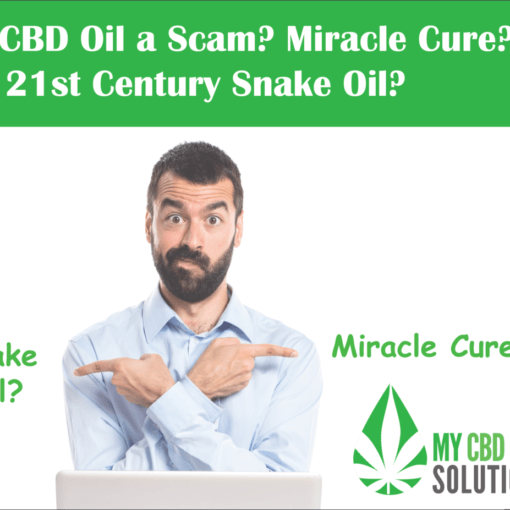 Man Asks Is CBD Oil A Scam? Miracle Cure or 21rst Century Snake Oil